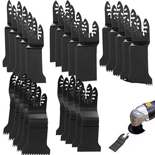 BABAN 20PCS Oscillating Multi Tool Saw Blades Bi-Metal Oscillating Saw Blade For Black and Decker Bosch Craftsman Chicago Cougar DeWalt Dremel