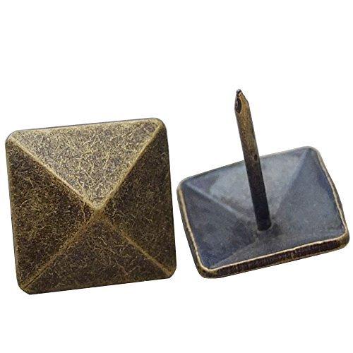 Bluemoona 20Pcs - 34 19mm Pyramid Nail Tack Decorative Head Push Pins Pad Fabric Button Bronze Model  Tools Hardware store