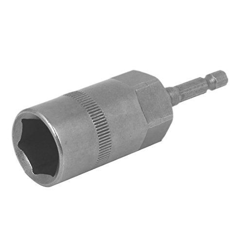 uxcell 86mm Length 18mm Hex Socket Spanner Nut Driver Adapter Drill Bit Gray