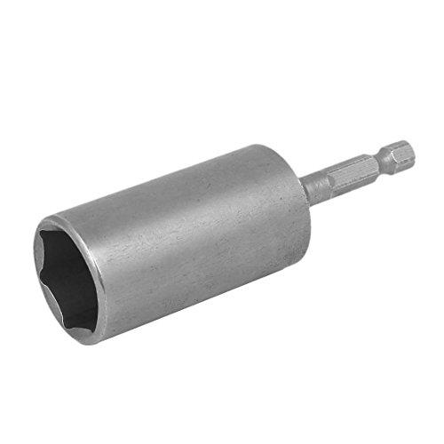 uxcell 86mm Long 19mm Hex Socket Spanner Nut Driver Adapter Drill Bit Gray
