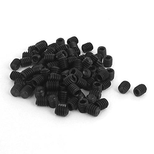 uxcell 8-32x316inch Hex Socket Set Cap Point Grub Screws 100pcs