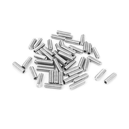 uxcell M3x10mm Stainless Steel Hex Socket Set Cap Point Grub Screws 50pcs