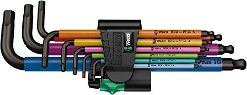 Wera - L-Wrench Set - Hex Long Arm Metric 9 Pc - 05073593001