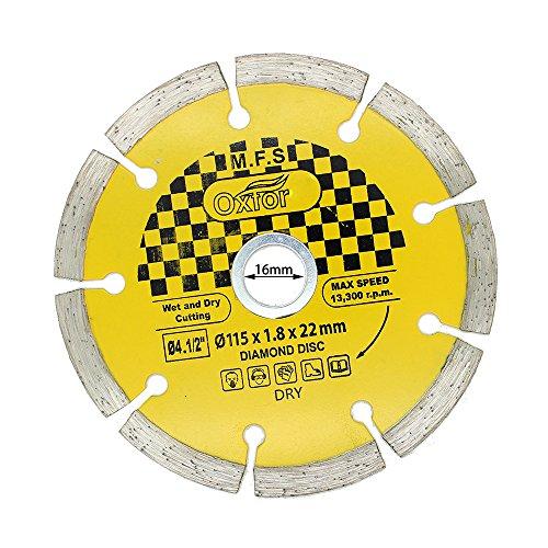 AUTOTOOLHOME 45 Diamond Angle Grinder Grinding Stone Brick Concrete Ceramic Tiles Dry Cutting Disc Wheel Saw