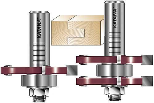 MLCS 17840 Katana Tongue and Groove Router Bit Set 12-Inch Shank 2-Piece