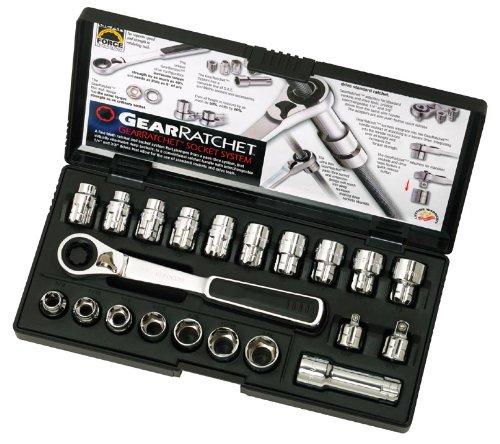 GearWrench 8921 21 Piece 38-Inch Drive 20mm Metric Pass Thru Ratchet Set