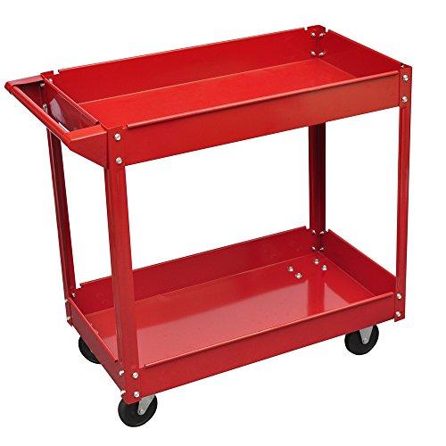 vidaXL Workshop Tool Trolley 220 lbs Red
