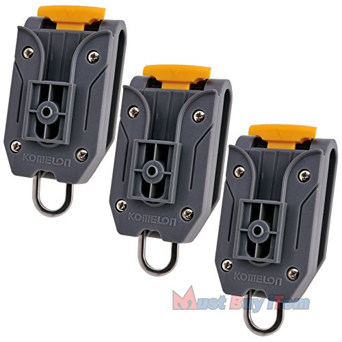 Lot of 3 Pcs Universal Komelon Measuring Tape Waist Belt Clip Holder with Tools Hanger Ring for Engineers Measurement Work Carrier Storage