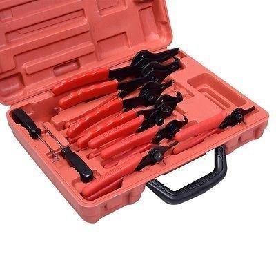 11pc Snap Ring Pliers Set Mechanics Circlips Auto Tool Internal External Pliers