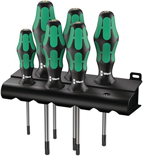 Wera 05028062001 Kraftform Plus 3676 Torx Screwdriver Set and Rack 6-Piece