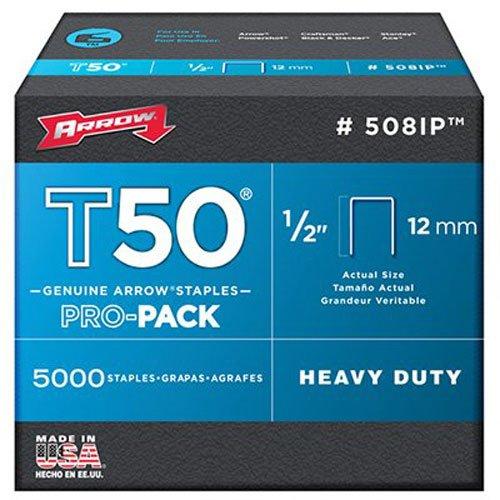 Arrow Fastener 508IP Genuine T50 12-Inch Staples 5000-Pack