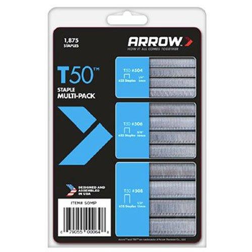 Arrow Fastener 50MP T50 Staple Multi-Pack 1875-Pack