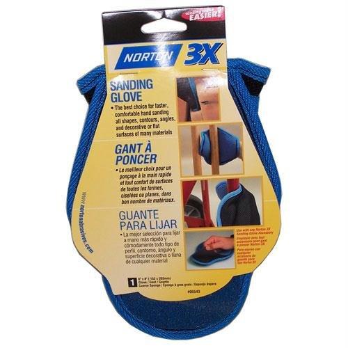 Norton 3X Sanding Glove with Course Abrasive Sponge 80-14789 -