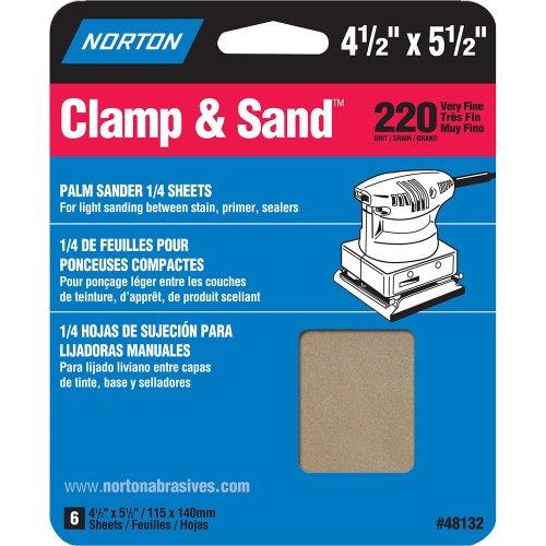 Norton Multisand Abrasive Sponge 5-12 Length x 4-12 Width Grit 220 Very Fine Pack of 6