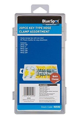 Blue Spot 40540 Key-Type Hose Clamp Assortment 20-Piece by Blue Spot Tools