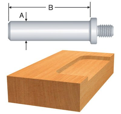 Bosch 82818 12-Inch Threaded Shank for Mortising Bits