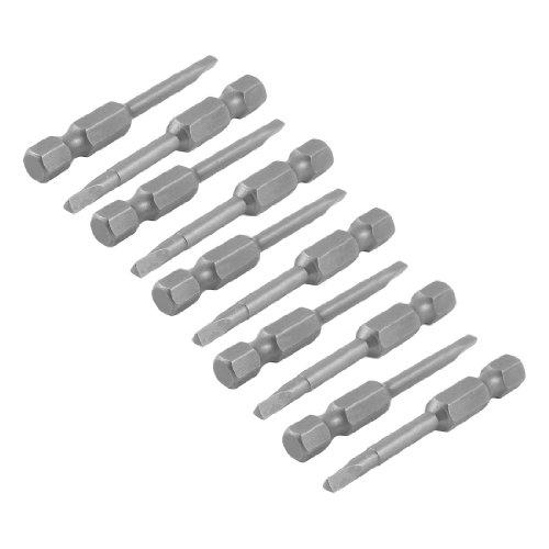 10 Pcs 14 Hex Shank 3mm Tip Magnetic Triangle Screwdriver Bits