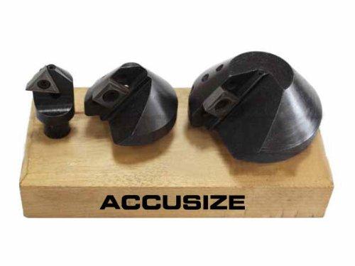 AccusizeTools - 3 PcsSet Indexable Carbide Countersink Set 90 Degree 14 12 1-14 0046-0990