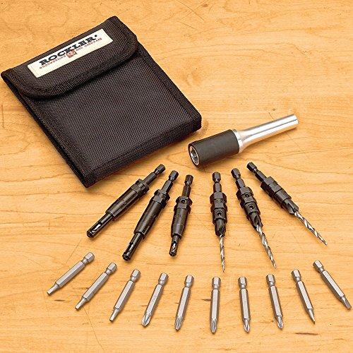 Rockler 18-Pc Self-Centering Countersink Set