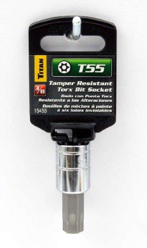 Titan 15455 T55 Tamper Resistant Torx 38 Drive Star Bit Socket