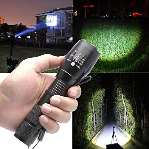 Cree 5000 Lumen Original XML-T6 Flashlight Torch Led Lamp Focus Adjustable 5 Mode Tactical Zoomable