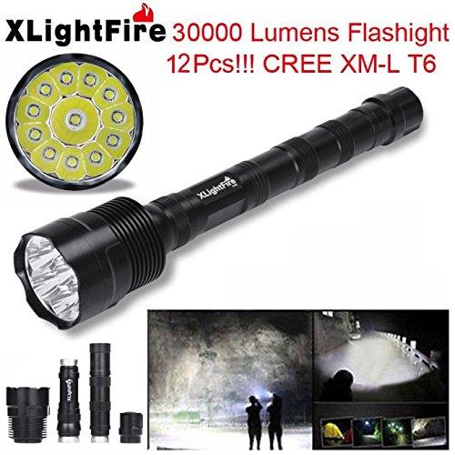 FlashlightBaomabao XLightFire 30000 Lumens 12x CREE XML T6 5 Mode 18650 Super Bright LED Flashlight