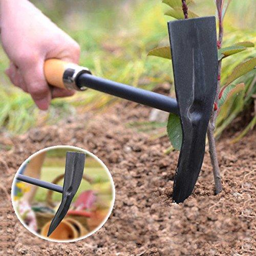 Pink Lizard Wooden Handle Steel Pickaxe Head Hoe Gardening Tools