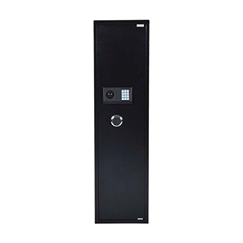 HomCom 56 5 Rifle Steel Electronic Gun Safe Cabinet - Black
