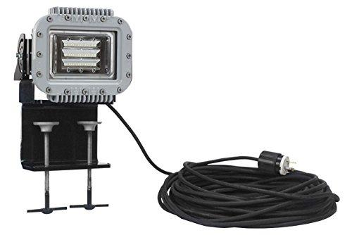 70W Explosion Proof Low Profile LED Light Fixture - 6000 Lumens - C1D1&2 - Adjustable Beam Clamp