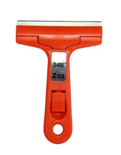 Zico Zi-4080 Heavy Duty Glass Tile and Aquarium Razor Blades Scraper 4 Inches Changeable Blade Include Blade Protector
