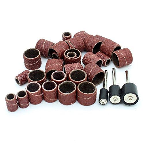 AUTOTOOLHOME Drum Sanding Band Kit Fits Dremel Includes Rubber Drum Mandrels -12 38 14 Set of 156