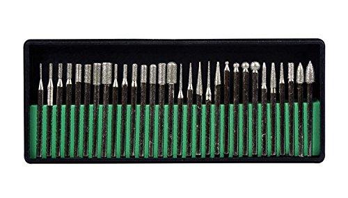 SE 82327DB 30-Piece Assorted Diamond-Coated Tip Burrs Set
