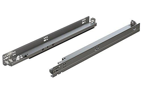 BLUM 5697620B Tandem Plus Blumotion 30 Drawer Runner Pair for Panel Silver