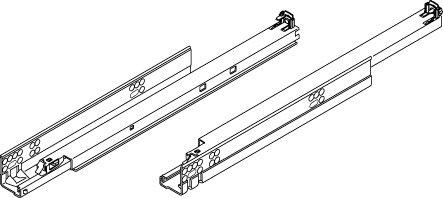 Pro Pack of 10Pcs Tandem Plus Blumotion 563 Drawer Runner 18 Drawer