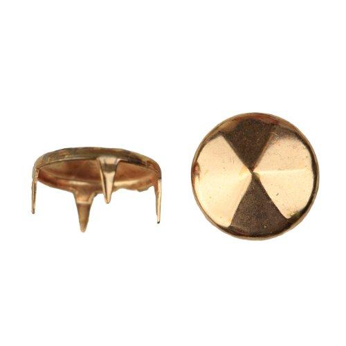 1007 Diamond Cut Nailhead Size 30 Solid Brass Copper Finish 400 pieces per pack