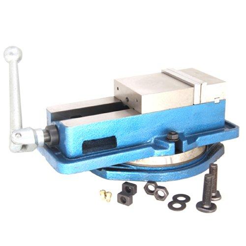 HFS Tm 8 Milling Machine Lockdown Vise -Swiveling Base - Hardened Metal - CNC Vise