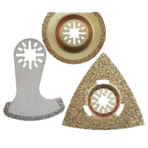 Zenith Industries ZN180063 Masonry Tile Oscillating Blade Set 3 Piece
