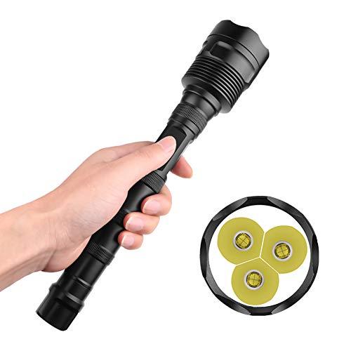 Huayuho 3XHP70 Flashlight 3000LM LED Headlamp Flashlight 18650 Detachable Camping Handheld Light Super Bright