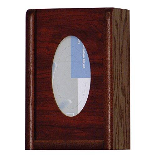 Wooden Mallet 3-Pocket Oval GloveTissue Box Holder Mahogany