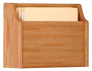 Wooden Mallet CHD15-1 Light Oak Single Pocket Extra Deep Wall Mounted Chart Holder