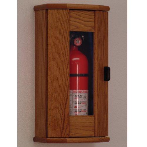 Wooden Mallet Fire Extinguisher Cabinet 10-Pound Medium OakAcrylic