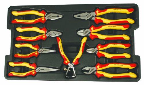Wiha 32999 Insulated PliersCutters Tray Set 9-Piece