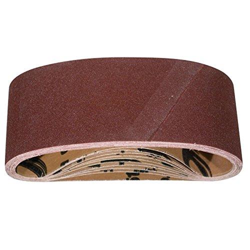 POWERTEC 110810 3 x 18 Inch Sanding Belts  80 Grit Aluminum Oxide Sanding Belt  Premium Sandpaper for Portable Belt Sander - 10 Pack