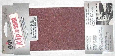8 Glit Klip n Sand 3 12 x 8 Drywall Sandpaper 80g USA 73580