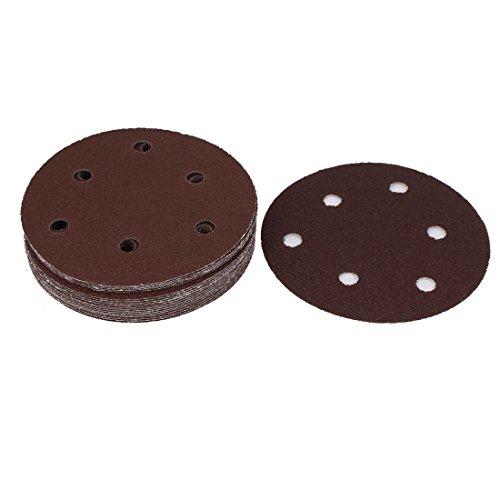 uxcell 125mm Diameter 60 Grit Self Adhesive Sanding Discs Brown 20PCS