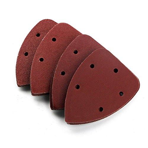 ROSENICE 40pcs Sanding Sheets Discs Mouse Sandpaper Sander Pad 14cm 40 80 120 240 Grit Mixed