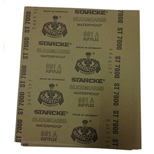 Pack of 5 Sheets High Precision Polishing Sanding Wetdry Waterproof Abrasive Sandpaper Sheets -Grit 7000 Germany