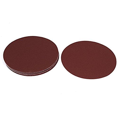 uxcell Brown Abrasives 120 Grit Hook and Loop Sanding Sandpaper Disc 7 Dia 10PCS