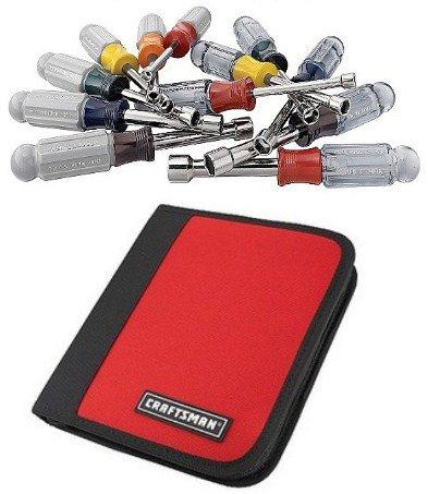 Craftsman InchMetric 12 pc Nutdriver Set in Zippered Case  34555