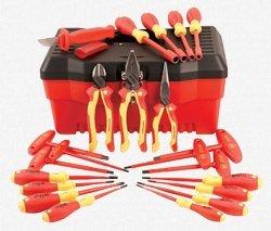 Wiha 32973 22 Piece Insulated PliersCuttersScrewdriverNut Driver Tool Box Set by Wiha